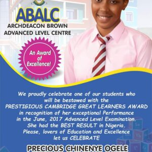 Celebrating our ABEC alumni at 20 ~ Precious Chinenye Ogele